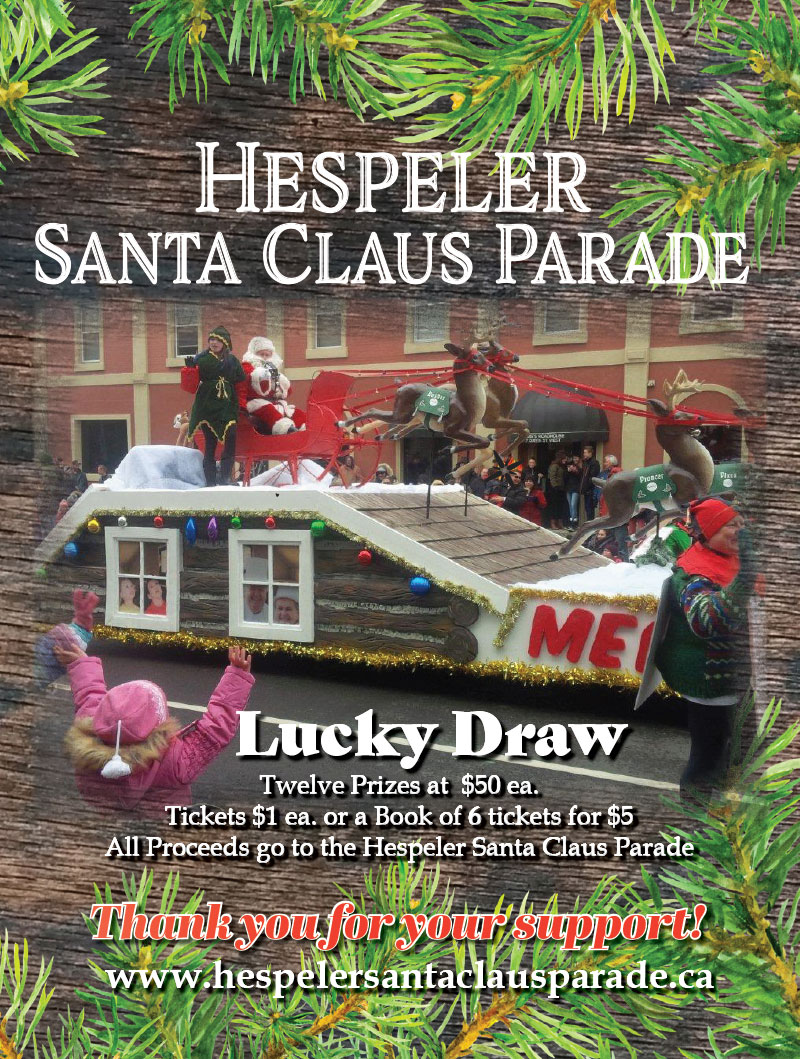 Santa Claus Parade LUCKY DRAW signs